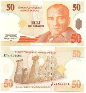 Turkey - 50 Yeni Türk Lirasi 2005 P. 220 aUNC Lemberg-Zp