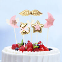 1Set Cake Toppers Moon Star Birthday Wedding Cupcake Picks Cat Flags Party Decor