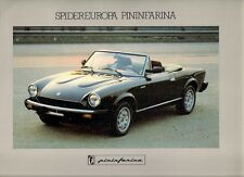 Pininfarina Spidereuropa 2000 Early 1980s Multilingual Sales Brochure 124 Spider