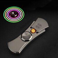 Hand Spinner Lighter Flameless USB Electric Charging Plasma Lighter Windproof