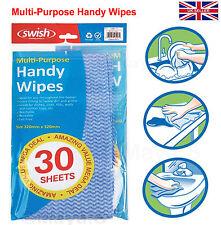Pack 30 en línea Azul Práctico Limpie hojas de productos de limpieza gratis -/Reutilizable Lavable