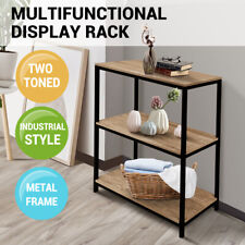 3 Tier Display Bookshelf Shelf Book Rack Bookcase Storage Organizer Storage