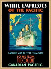 White Empresses Canadian Pacific Vintage Travel Canada Oceanliner Poster Print