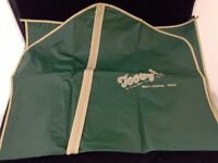 Vtg Advertising Tooeys Brookfield Missouri Garment Suit Bag Unused Green Plastic