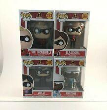 Funko Pop! Incredibles 2 Bundle! Mr. Incredible, Elastigirl, Frozone and Violet!