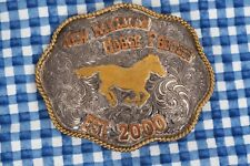 Silver Overlay Clint Mortenson Rodeo Buckle New Mexican Horse Project Est. 2000