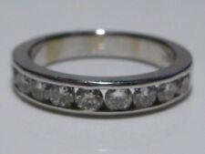 SZ 6 1+ CARAT 14K WHITE GOLD DIAMOND WEDDING BRIDAL ENGAGEMENT RING BAND