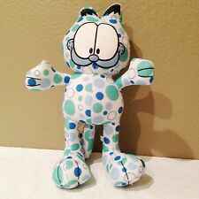 "Garfield w/ Green and Blue Circles Plush Doll 14""-VERY GENTLY USED!!!"
