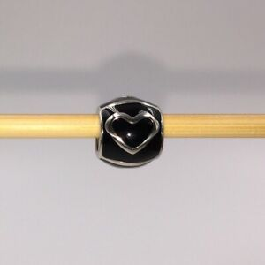 Brighton ABC Night Glow Heart Bead J94302 Black/Silver Collectible New With Tags