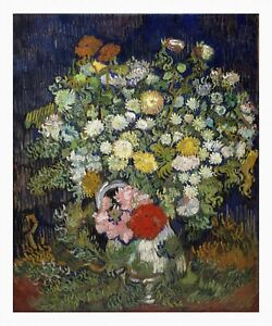 VAN GOGH Bouquet of Flowers in a Vase Giclee Fine Art Canvas Print