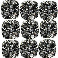 Moissanite Diamond 4 Ring 7.10ct vs1-5pc-1.20-1.60ct=Gray Brown Loose Cushion