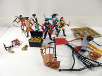 Lots of 6 Chap Mei Pirates + British Officers Comes with Extra Parts/Accesories
