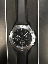 New Genuine Volkswagen 3 Dial Mens Wrist Watch With Leather Strap