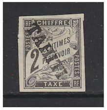 Tahiti - 1893, 2c Black Postage Due stamp - Mint No Gum - SG D20