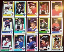 1986-87 O-Pee-Chee 21 CARD LOT Every Team OPC Hockey Cards NM No Dups