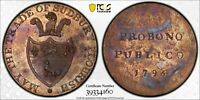 PCGS MS-63 GREAT BRITAIN SUDBURY HALFPENNY CONDER TOKEN 1/2 PENNY 1793 (DH-38)