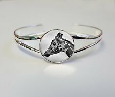 Giraffe On A Silver Plated Bracelet Bangle Costume Jewellery Ladies Gift L52