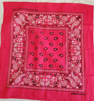 Pink Bandana Kaiser Collection RN122070 Paisley Dots Flowers Face Covering