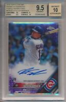 2016 Topps Chrome Kyle Schwarber Rookie Autographs Purple Refractor 182/250 BGS