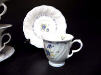 Nikko China Blue Peony Footed Cups and Saucers (set of 2)  ..