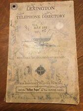 May 1951 Lexington Kentucky Telephone Directory Phonebook Kentucky Telephone