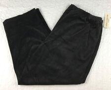 NEW Rebecca Malone Woman Black Velour Womens Pants Plus Size 3X $38