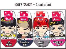 K Pop GOT7 Women's Socks (Pack of 4) Size 6-9 Korean singers item