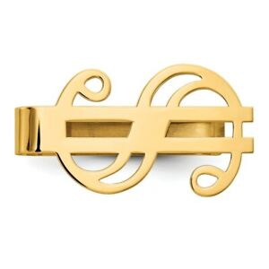14k Yellow Gold Dollar Sign Money Clip Fine Jewelry Dad Mens Gifts Him