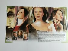 Charmed rare WB press kit card 2002 03 Alyssa Milano Rose McGowan CW upfronts NY