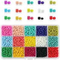 Phogary 9000Pcs Glass Seed Beads Mixed Colors Small Pony Beads Assorted Kit Opa