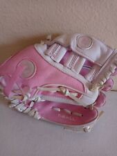 """New listing Wilson Pink And White Girls T-Ball Glove Hope Cancer Awareness 10"""""""