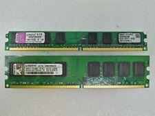 2GB 2x1GB Kingston PC2-5300 DDR2-667 240-Pin Desktop Memory RAM #0630