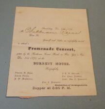 1875 Burnett House New Year's Eve Promenade Concert Invitation Stroudsburg PA