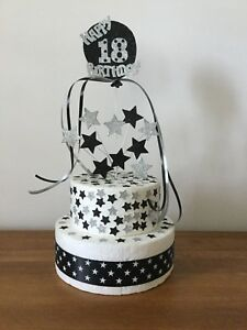 Birthday Cake Topper Decoration Balloon And Stars All Ages and Colours