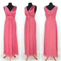 Womens Boden Long Maxi Silk Dress Pink Evening Size 12UK
