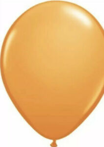 100 11in Round ORANGE Qualatex Balloons Solid Color
