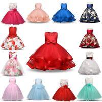Flower Girl Princess Dress Baby Kid Party Wedding Bridesmaid Tutu Dresses