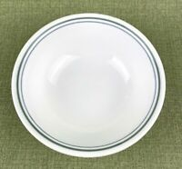"""Corelle Cereal/Soup Bowls 6 1/4"""" Set of 2 Country Cottage Green Blue Edge Strip"""