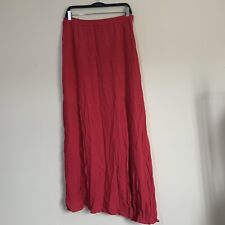 Forever 21 BNWT Hot Pink Maxi Skirt With Split Size L