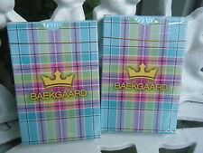 VERA BRADLEY - BAEKGAARD Two Decks of Playing Cards TARTAN BRIGHTS BLUE New!