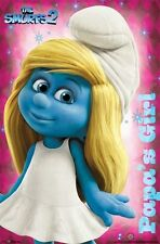 THE SMURFS 2 MOVIE SMURFETTE PAPAS GIRL POSTER NEW 22X34 FREE SHIPPING