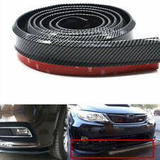 2.5M Car Carbon Fiber Lip Skirt Protector Front Bumper Body Spoiler Side Splitte