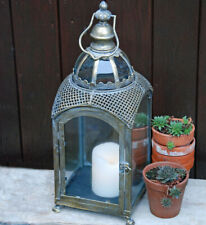 Antique Lantern Church Pillar Candle Holder Tealight Display Indoor Outdoor New