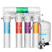 5 Stage Reverse Osmosis RO system Drinking with Twist Quick Change Filters 75GPD