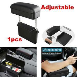 Black Car Interior Accessories Seat Gap Slit Adjustable Armrest Box Organizer