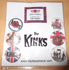 The Kinks 25mm 6 Button Badge Set, mod