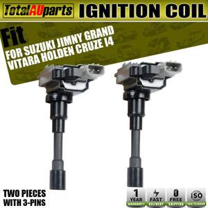 2x Ignition Coils for Holden Cruze YG / Suzuki Jimny SN413 Grand Vitara JB416