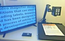 """Clarity Flex Arm Low Vision Video Magnifier Eye Level w/ 24"""" LCD, Case, XY Table"""
