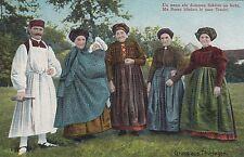 Gruss aus Thüringen AK 1912 Frauen in Volkstracht Georgenthal Thüringen 1702241