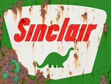 """TIN SIGN """" Sinclair Rust"""" Gas Oil  Signs  Rustic Wall Decor"""